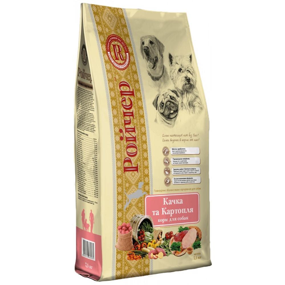 Ройчер корм для собак с чувствительным пищеварением утка с картофелем 7.5 кг