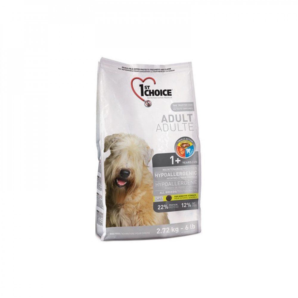 1st Choice (Фест Чойс) гипоаллергенный корм для собак всех пород с уткой и картошкой