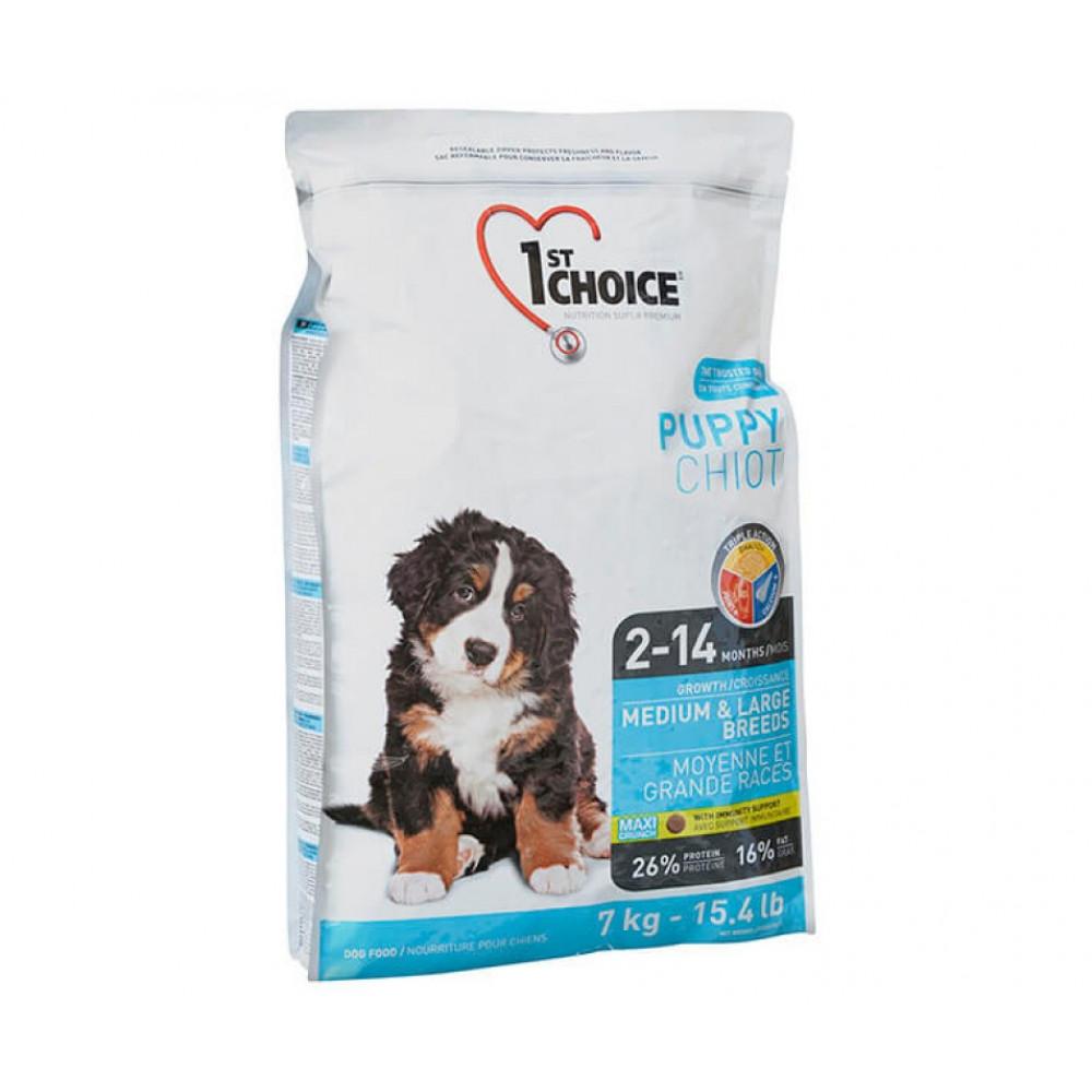 1st Choice (Фест Чойс) корм для щенков крупных и средних пород с курицей