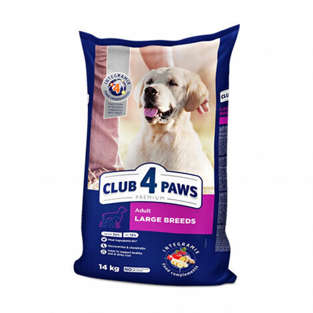 """Корм """"Клуб 4 Лапы"""" для взрослых собак крупных пород с мясом 14 кг"""