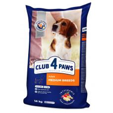 """Корм """"Клуб 4 Лапы"""" для взрослых собак средних пород с мясом 14 кг"""
