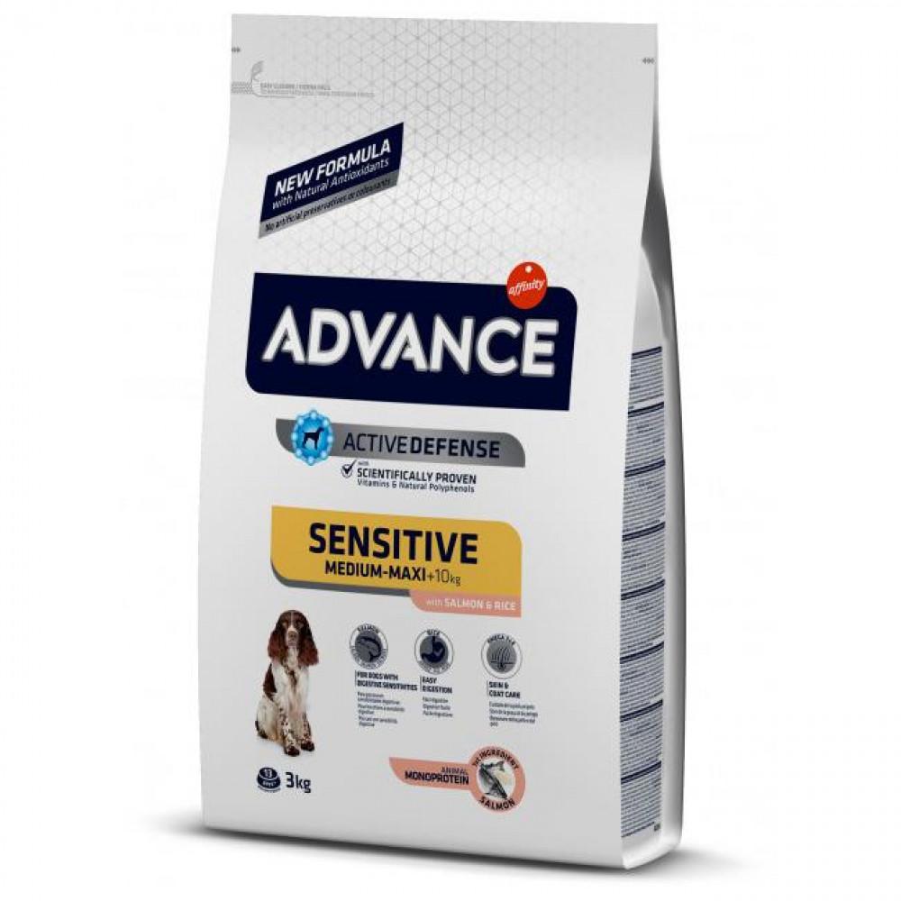 Advance Dog Medium Sensitive (с лососем и рисом) гипоаллергенный корм для собак 12 кг