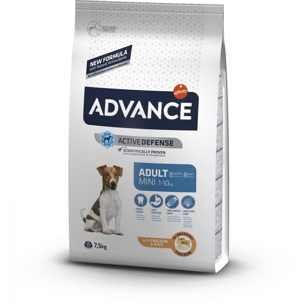 Advance (Эдванс) Mini Adult корм для собак мелких пород с курицей 7.5 кг