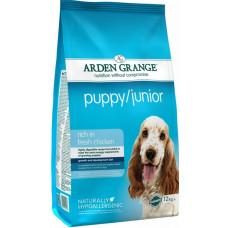 Arden Grange Puppy Junior Корм для щенков с курицей и рисом 12 кг
