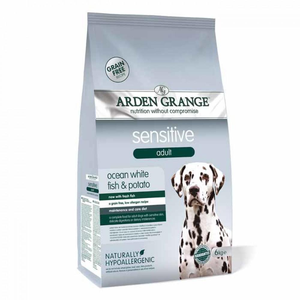 Arden Grange Sensitive Беззерновой корм для собак с чувствительным пищеварением с рыбой 12 кг