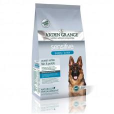 Arden Grange Sensitive puppy/junior для щенков и молодых собак, белой рыбой и картофелем