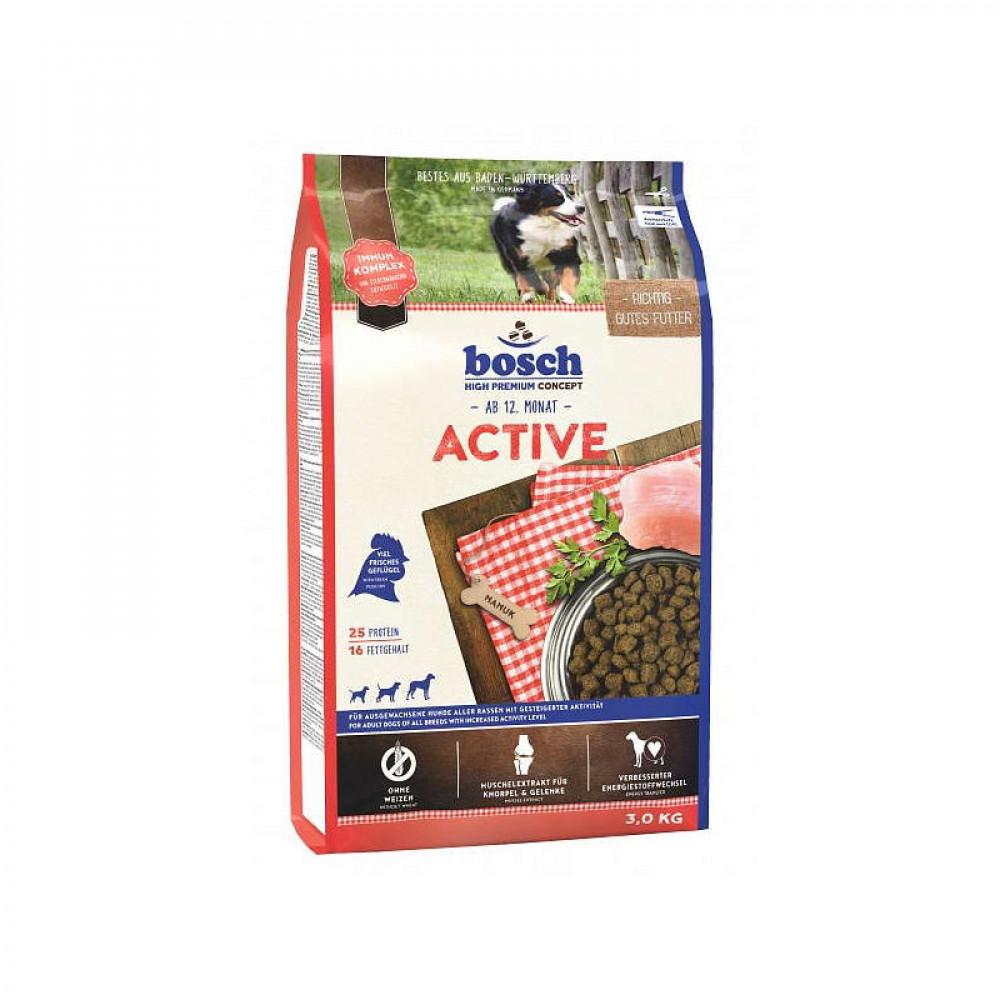 Корм Bosch (Бош) Active для собак активных собак с птицей 15 кг
