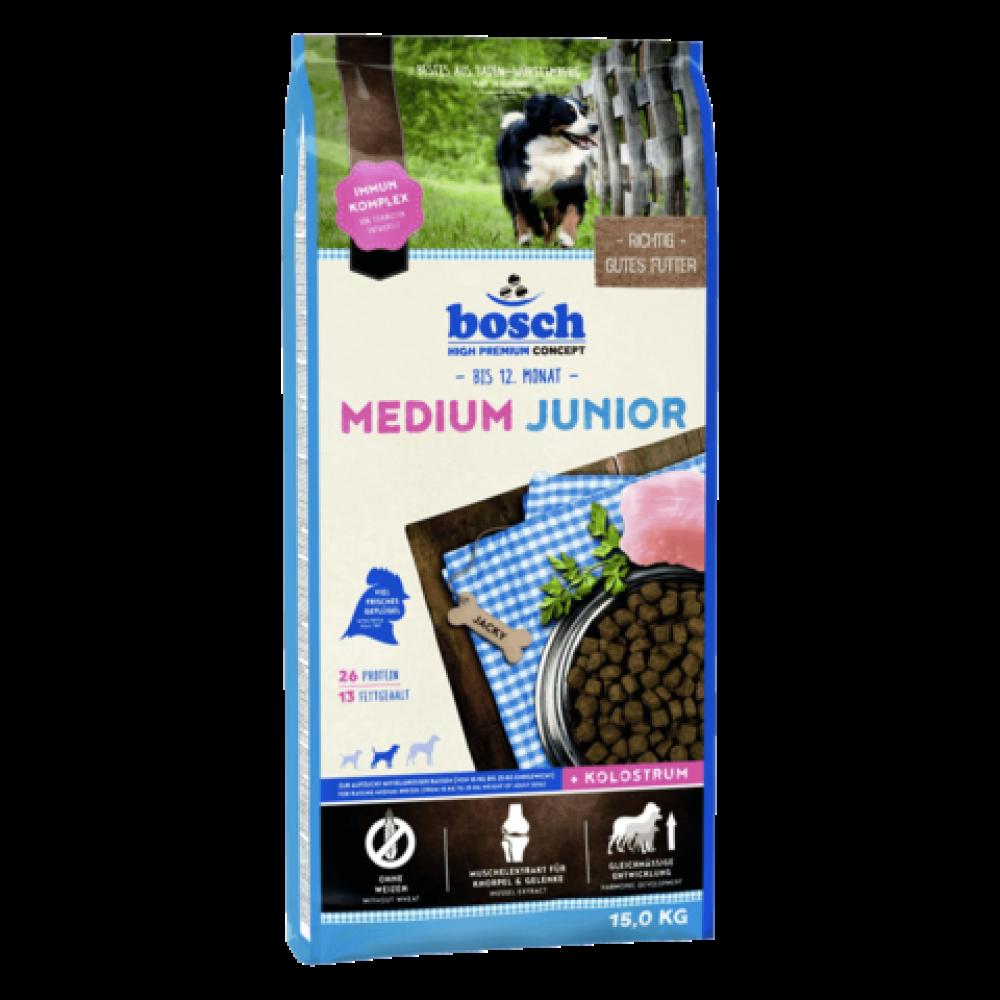 Корм Bosch (Бош) для щенков средних пород с птицей 15 кг