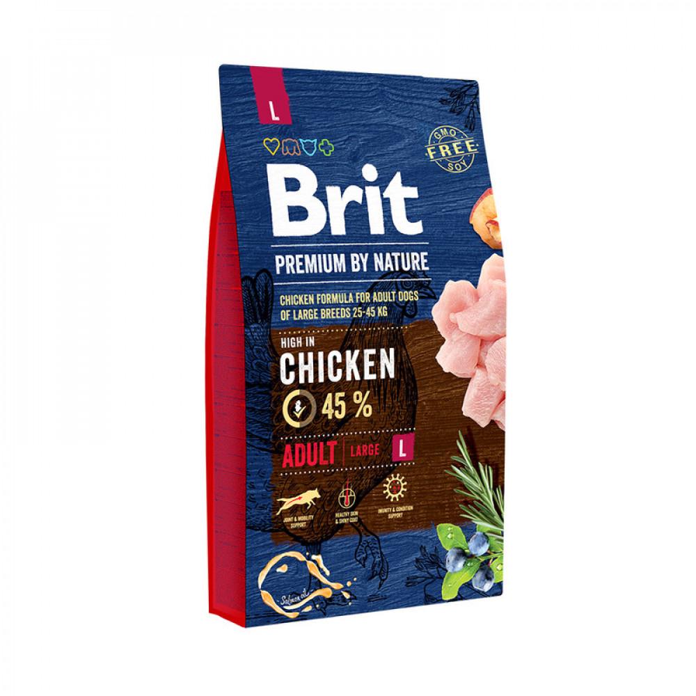 Brit Premium Adult L Корм Брит для крупных пород собак 15 кг