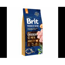 Brit Premium Adult M Корм Брит для средних пород собак 15 кг