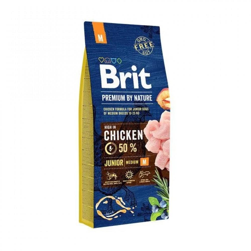 Brit Premium Junior M Корм Брит для щенков средних пород 15 кг