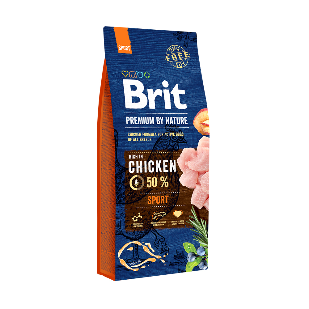 Brit Premium Sport – Брит корм для активных собак 15 кг