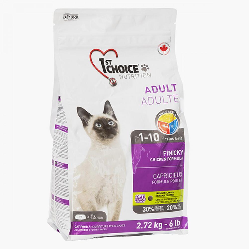 1st Choice (Фест Чойс) Finicky Chicken корм для привередливых котов 5.44 кг