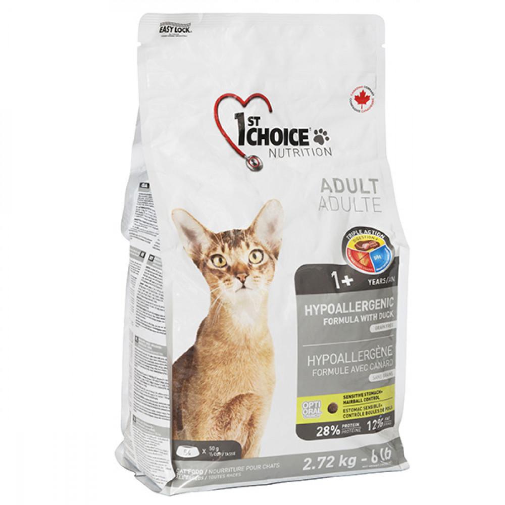 1st Choice (Фест Чойс) гипоаллергенный корм для котов с уткой 5.44 кг