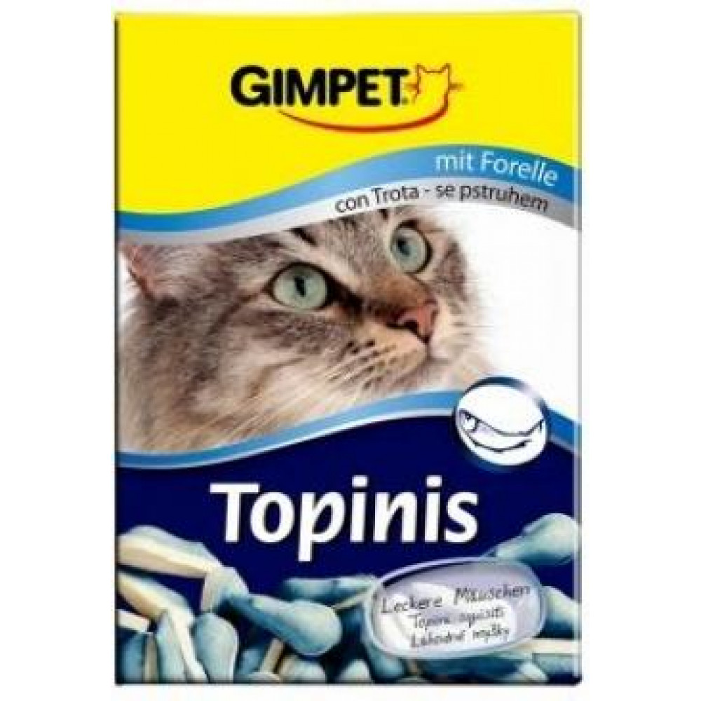 Витамины Джимпет для кошек с форелью Gimpet Topinis витаминные мышки 190 шт