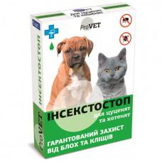 Капли от блох и клещей для щенков и котят Инсектостоп, ProVET