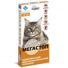 Капли от блох и клещей для кошек от 4 до 8 кг МегаСтоп, ProVet
