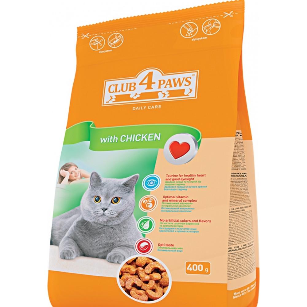 Корм для кошек «Клуб 4 Лапы» куриное филе 14 кг
