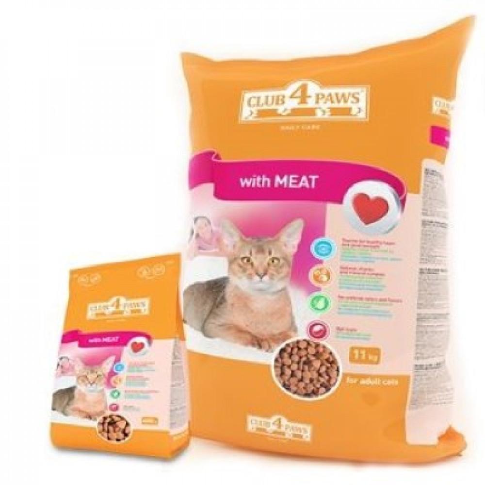Корм для кошек «Клуб 4 Лапы» мясное филе с витаминами 14 кг
