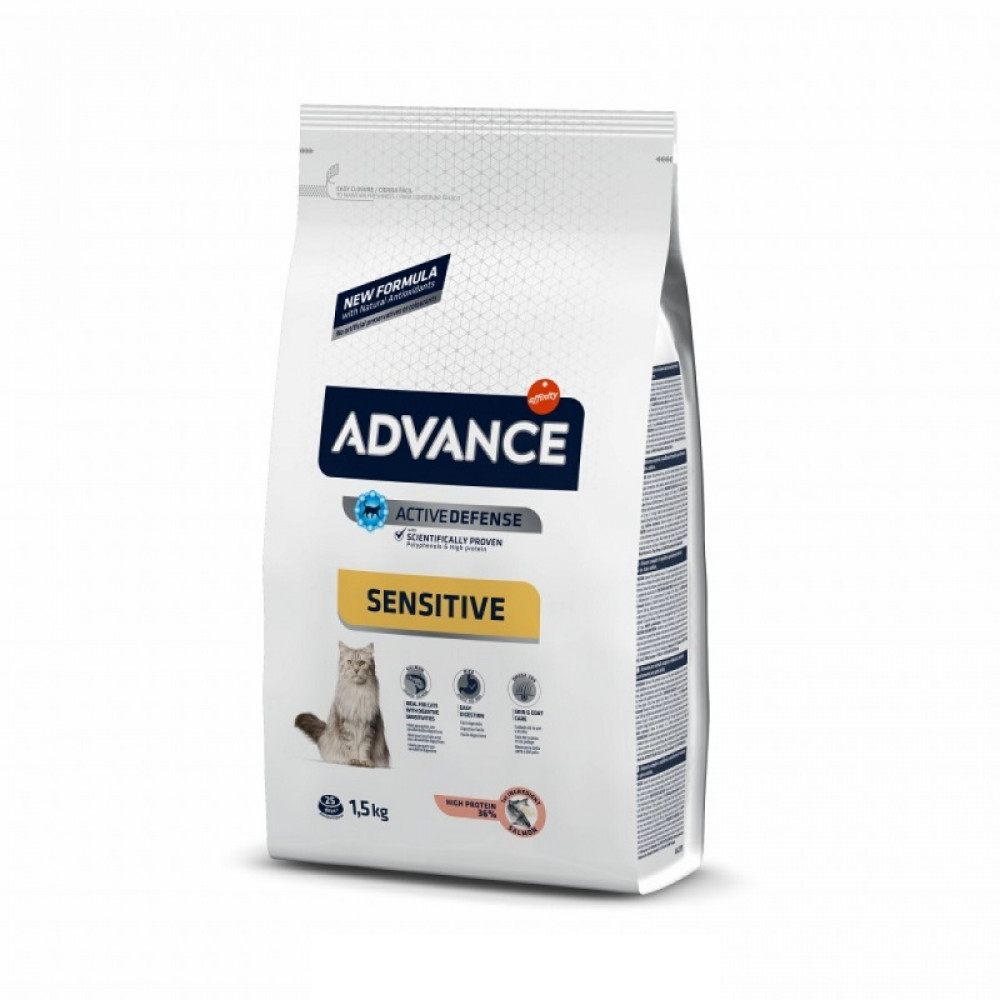 Advance (Эдванс) Salmon Sensitiv корм для котов с лососем 10 кг