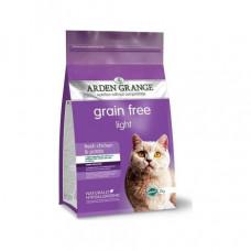 Arden Grange Adult Cat Light chicken&potato Корм беззерновой для кошек низкокалорийный