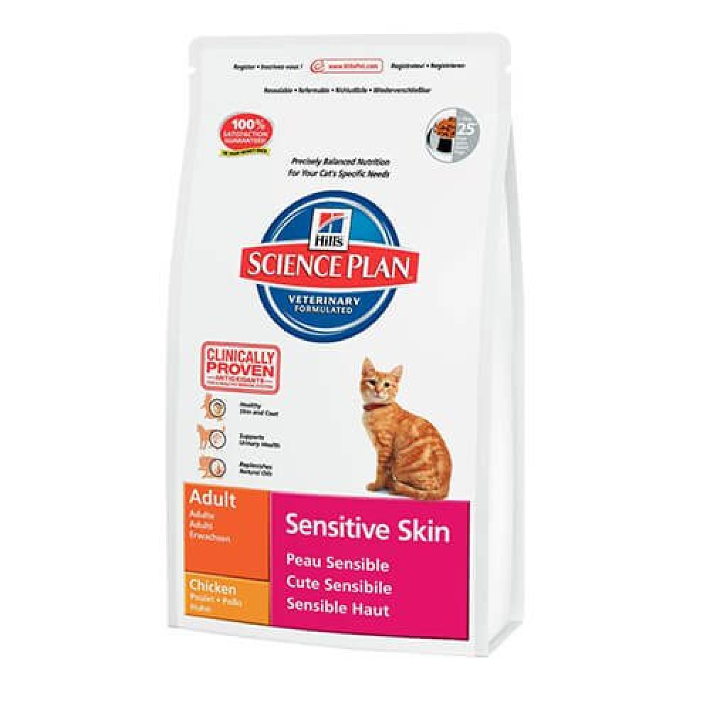 Хиллс корм для кошек для шерсти и кожи Hill's Sensitive Skin
