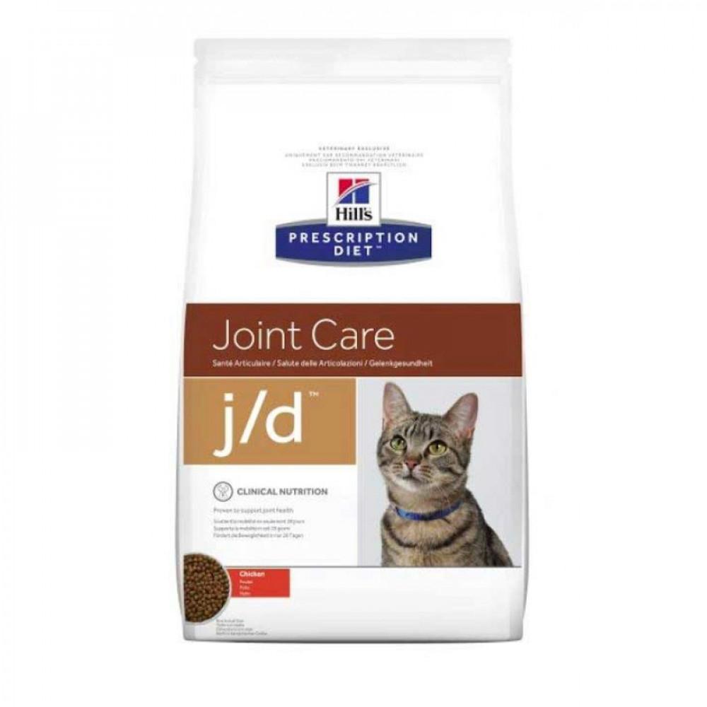 Лечебный корм Хиллс для кошек – Hill's Prescription Diet Feline j/d снижение боли и воспаления при остеоартритах 2 кг