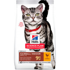 Корм Хиллс домашних кошек с выведением шерсти из желудка – Hill's Hairball Indoor Science Plan Feline Adult