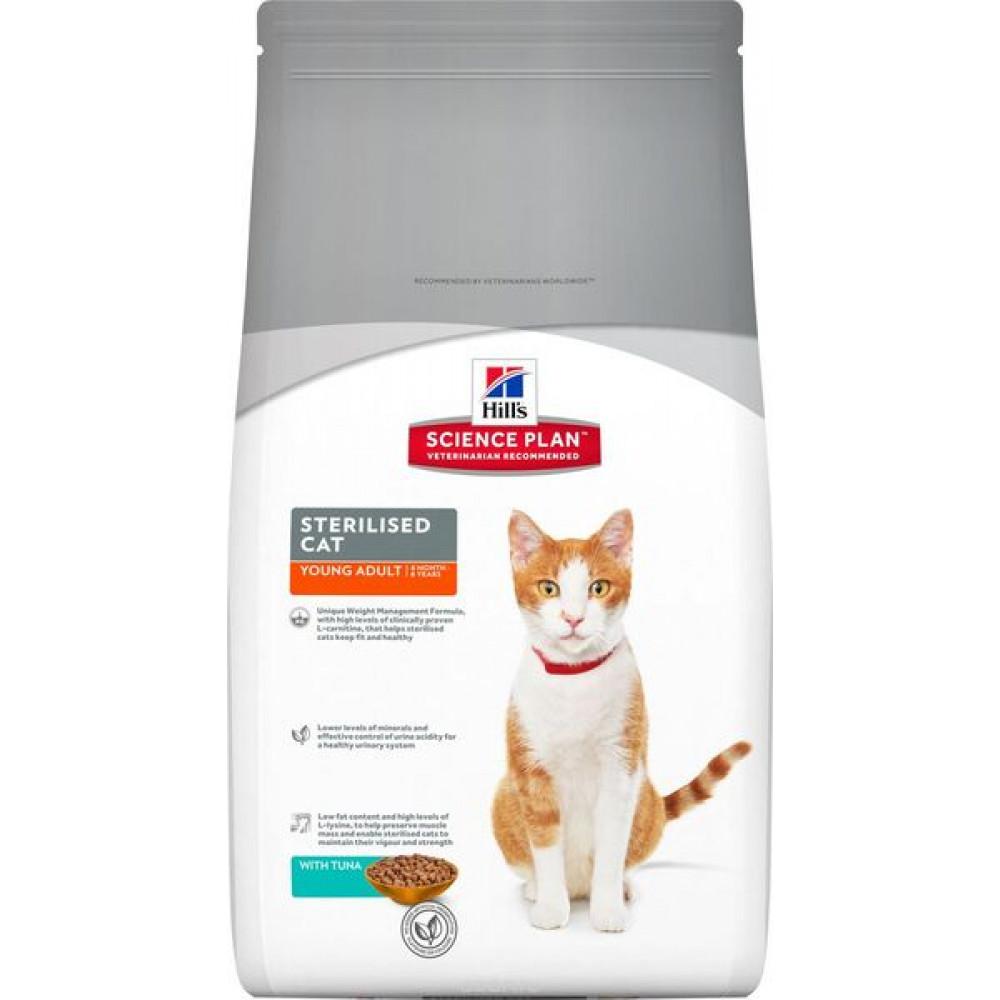 Корм Хиллс для молодых стерилизованных кошек с тунцом Hill's Young Sterilised Cat