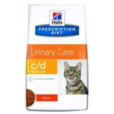 Лечебный корм Хиллс для кошек – Hill's Prescription Diet Feline c/d Multicare мочекаменная болезнь (курица)