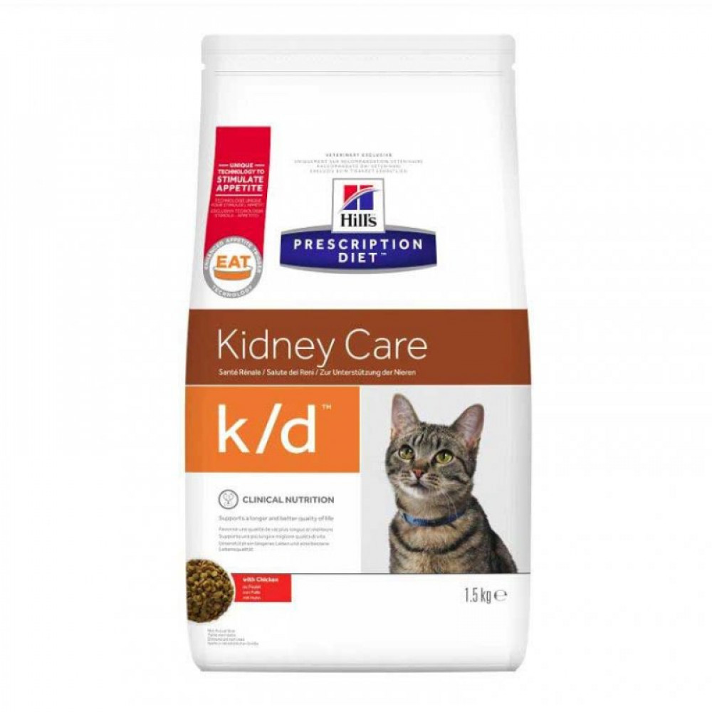 Лечебный корм Хиллс для кошек – Hill's Prescription Diet Feline k/d для почек