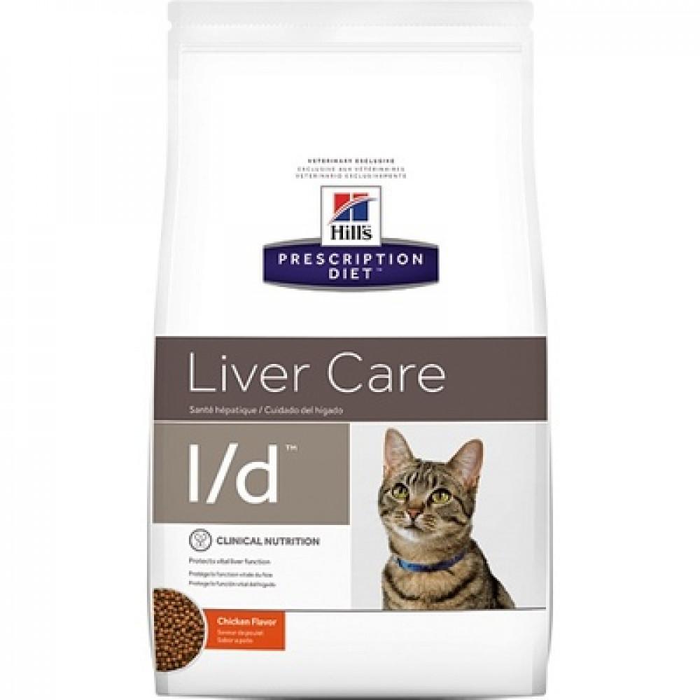 Лечебный корм Хиллс для кошек – Hill's Prescription Diet Feline l/d для печени 1.5 кг