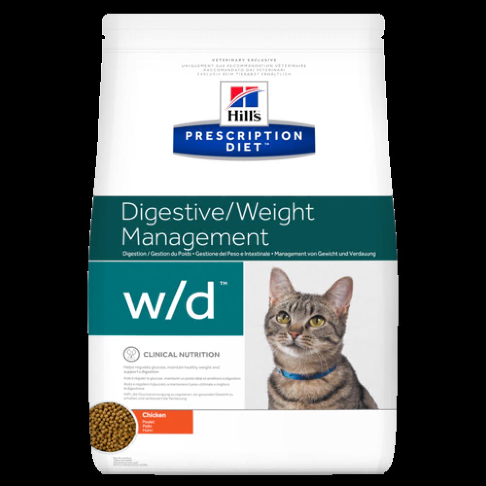 Лечебный корм Хиллс для кошек – Hill's Prescription Diet Feline w/d при запорах и диабете