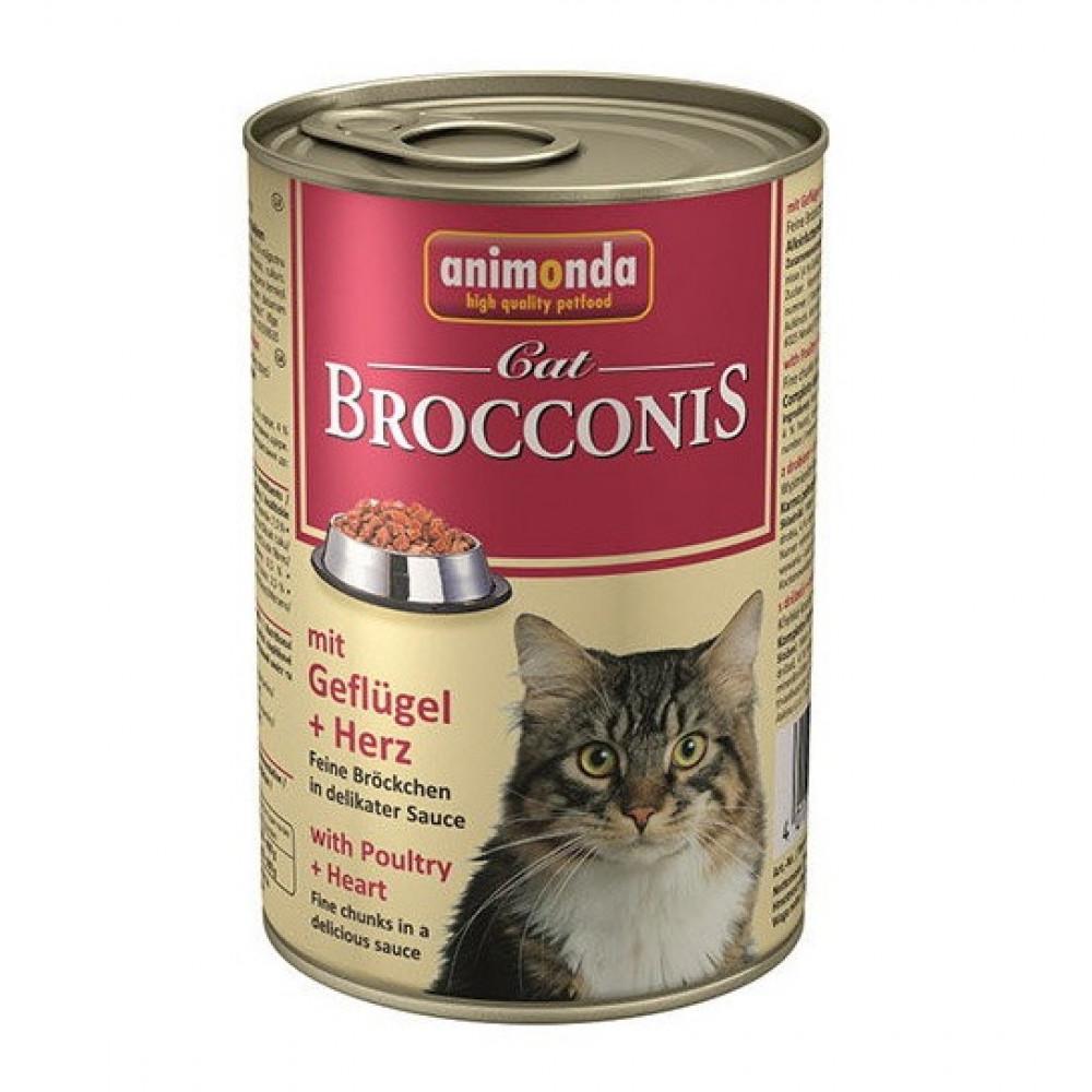 Animonda Brocconis Cat Консервы для кошек с домашней птицей и сердцем 0.4 кг