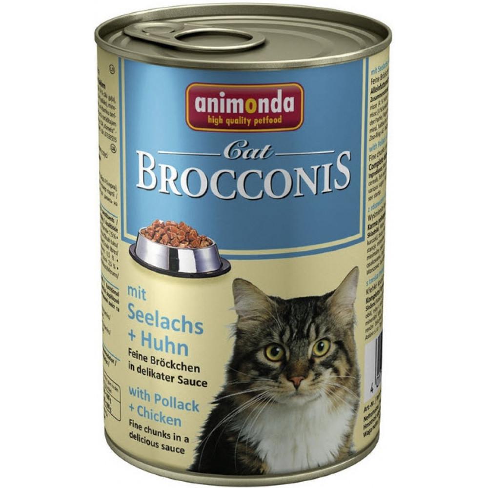 Animonda Brocconis Cat Консервы для кошек с сайдой и курицей 0.4 кг