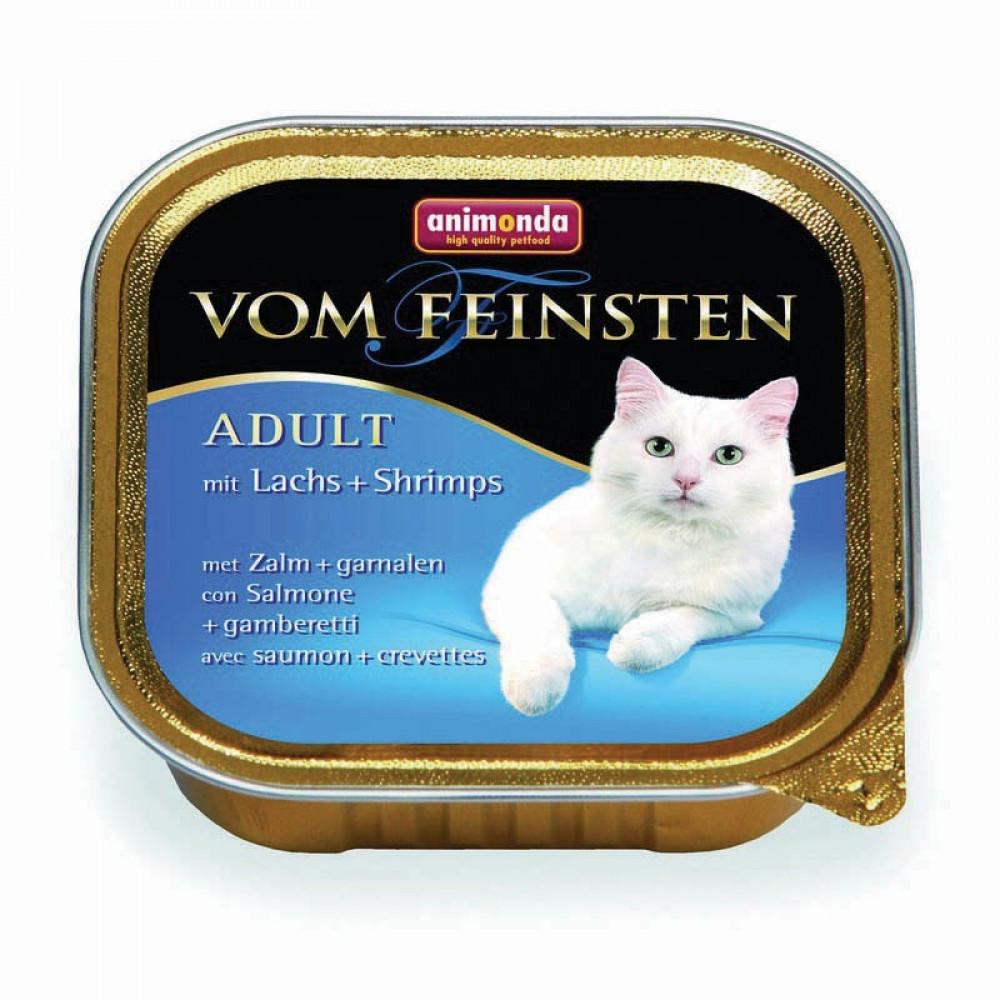 Animonda для кошек консервы Vom Feinsten Adult с лососем и креветками