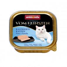 Animonda Vom Feinsten Adult для кастрированных котов с индейкой и форелью