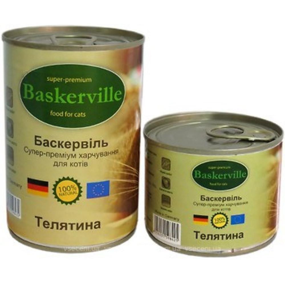 Консервированный корм для кошек Baskerville с телятиной
