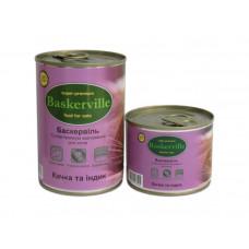 Консервированный корм для кошек Baskerville утка с индейкой