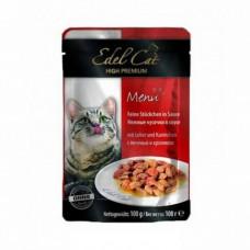 Edel Cat – паучи Эдель кусочки в соусе с печенью и кроликом 100 г