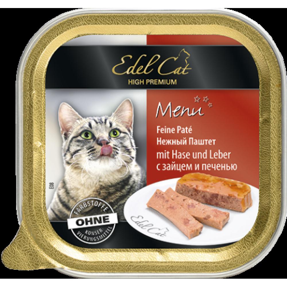 Edel Cat – паштет Эдель с зайцем и печенью 100 г