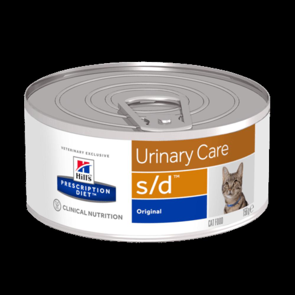 Лечебные консервы Хиллс для кошек Hills Prescription Diet s/d растворение струвитных камней и кристаллов