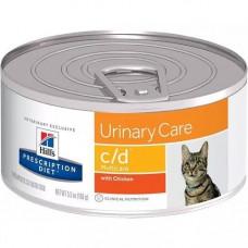 Лечебные консервы Хиллс для кошек Hills Prescription Diet c/d струвиты, оксалаты, цестит