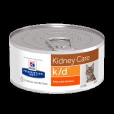 Лечебные консервы Хиллс для кошек Hills Prescription Diet k/d почечная, сердечная недостаточность