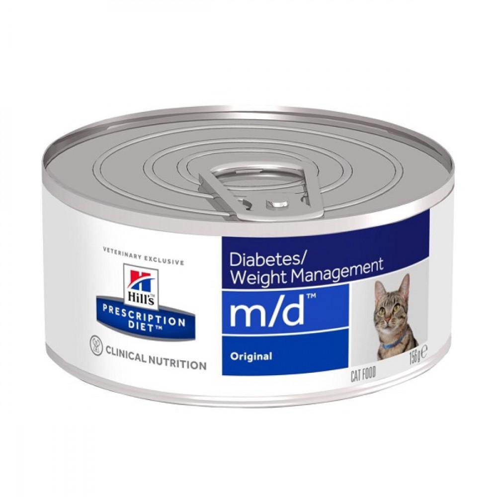Лечебные консервы Хиллс для кошек Hills Prescription Diet m/d диабет, ожирение