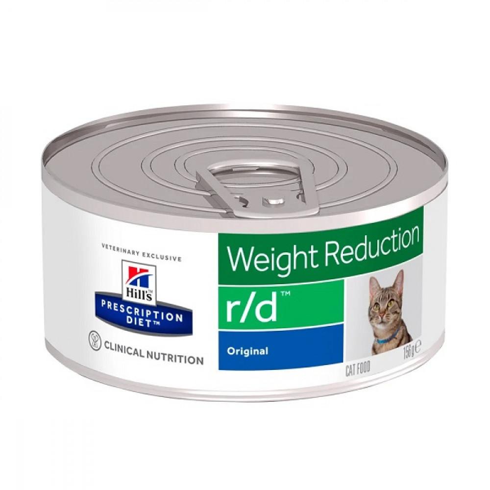 Лечебные консервы Хиллс для кошек Hills Prescription Diet r/d ожирение, снижение веса