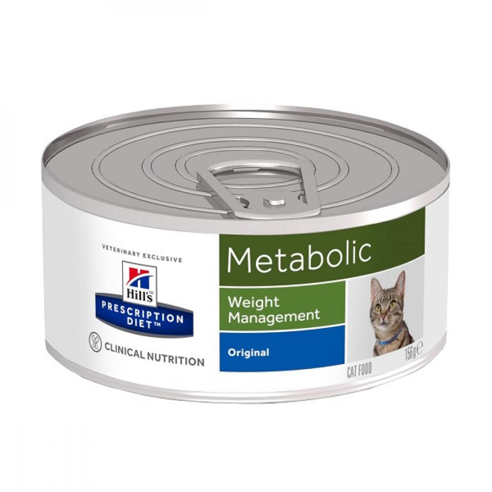 Лечебные консервы Хиллс для кошек Hills Prescription Diet Metabolic ожирение, лишний вес
