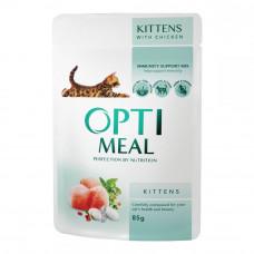 Консервы для котят OptiMeal (Оптимил) с курицей