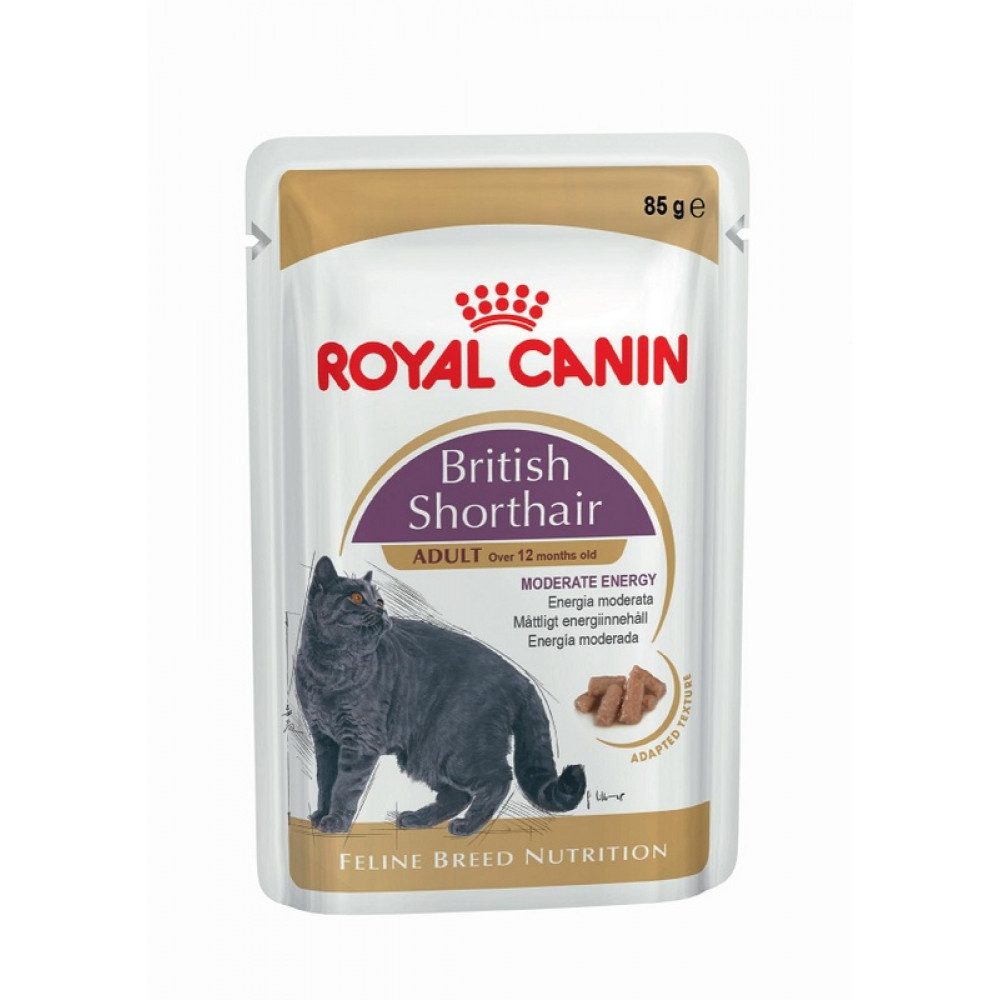 Консервы для британцев Роял Канин – Royal Canin British Shorthair (кусочки в соусе)