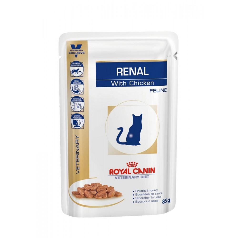 Консервы для кошек Роял Канин (Royal Canin) Renal при почечной недостаточности